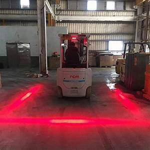 XRLL LED Red Zone Danger Area Warning Lights For Forklift ...