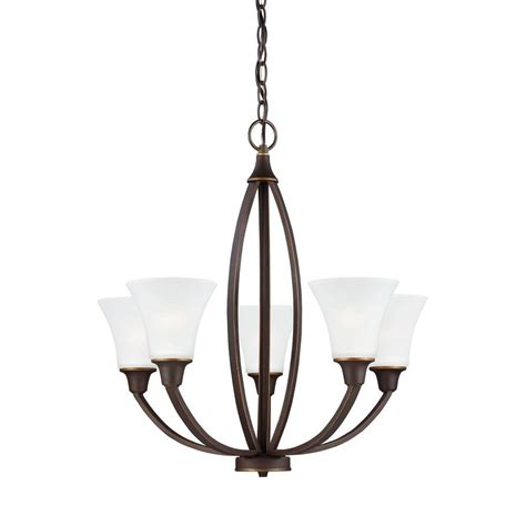 single chandelier sea gull lighting metcalf 5 light autumn bronze single