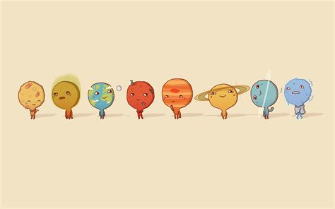 Eight Planets Cartoon Wallpapers