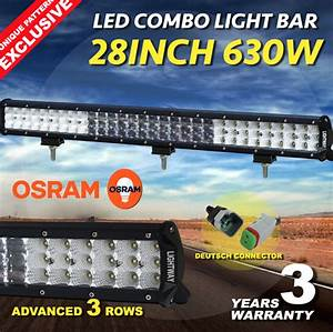 28inch 630w Osram Led Light Bar Spot Flood Combo Offroad Work Driving  U2013 Country Outdoor Supplies