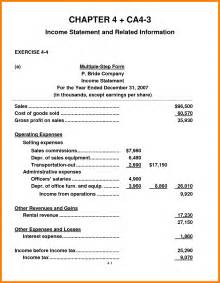 Excel Bill Tracker Template 4 Partial Income Statement Monthly Budget Forms