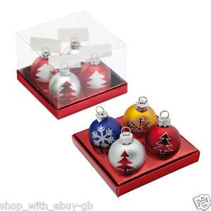 christmas baubles name holders 4 bauble name card holders table decorations place number ebay