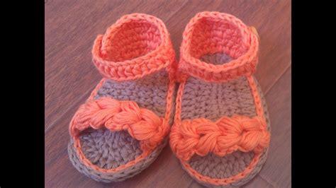 Sandalias de verano para bebé a Crochet Parte 2 YouTube