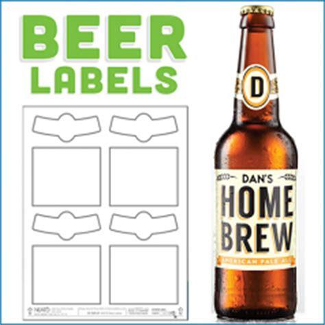 blank beer labels water resistant peel   easy