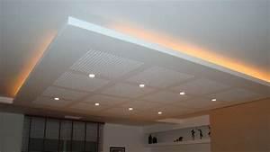 Installer Faux Plafond : co t de la pose d un faux plafond suspendu ~ Melissatoandfro.com Idées de Décoration