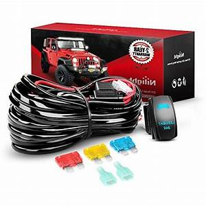 Nilight 10014w Led Light Bar Wiring Harness Kit
