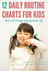 Printable Family Routine Chart 12 Daily Routine Chore Charts For Kids Daily Routine