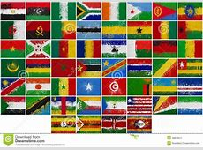 Painted Flags Of Africa Stock Image Image 28813611