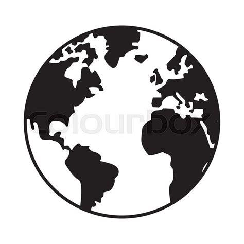foto de World map globe earth icon isolated vector illustration