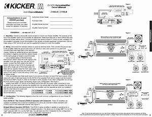 Amp For Kicker 2 Ohm Wiring Diagram