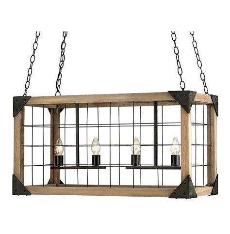 rectangular lantern chandelier foster industrial loft rectangle wood lantern pendant l