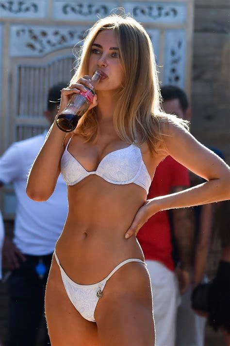 kimberley garner looks incredible in a white bikini while ...