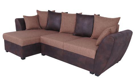 canapé d angle réversible canap 233 d angle fixe r 233 versible contemporain en tissu brun