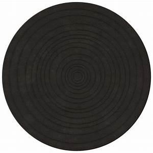 Tapis Rond Design : tapis de luxe rond gris anthracite eden par angelo diam tre 220 cm ~ Teatrodelosmanantiales.com Idées de Décoration