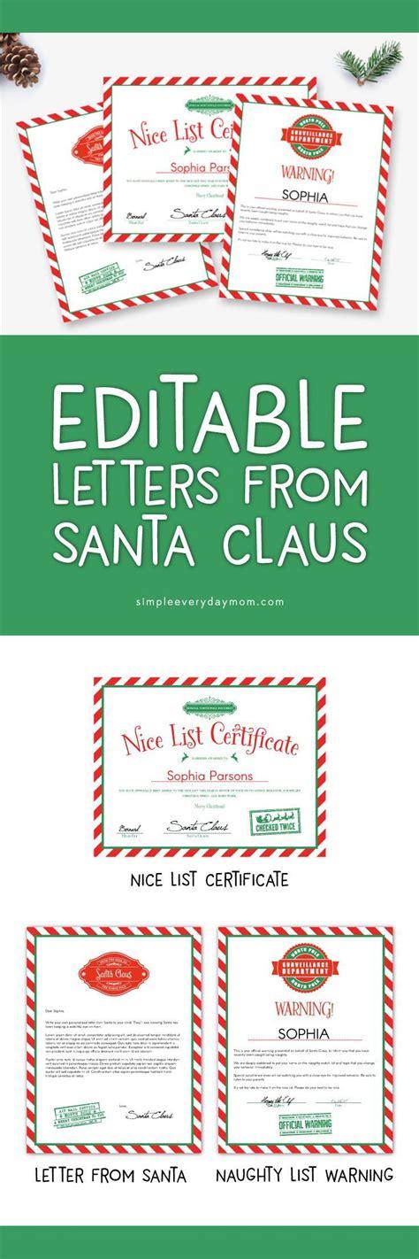 unique  letters  santa ideas  pinterest