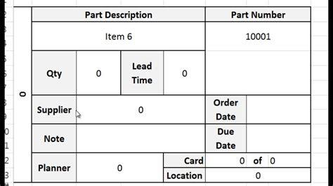 kanban card kanban card template