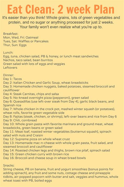 plan cuisine restaurant clean meal plan bless this mess