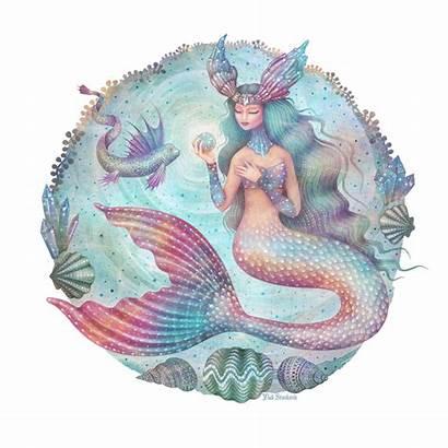Behance Magical Mermaids Gifs Animated Goddess Illustration