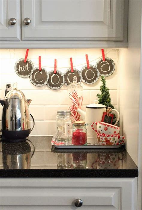 cozy christmas kitchen decor ideas shelterness