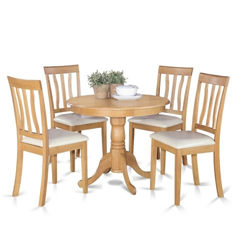oak small kitchen table and 4 chairs dining set ebay