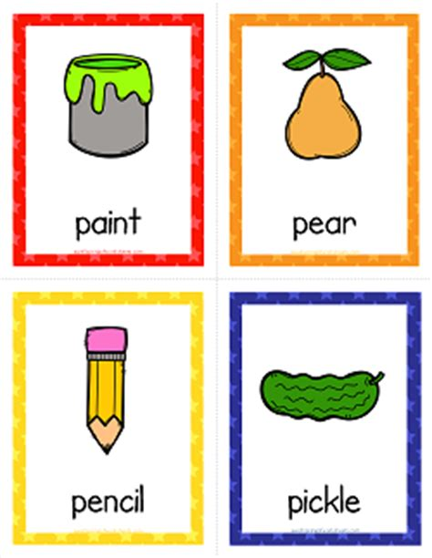 Card — card1 kärd n. Things that Start with P Cards - Alphabet Printables   A Wellspring