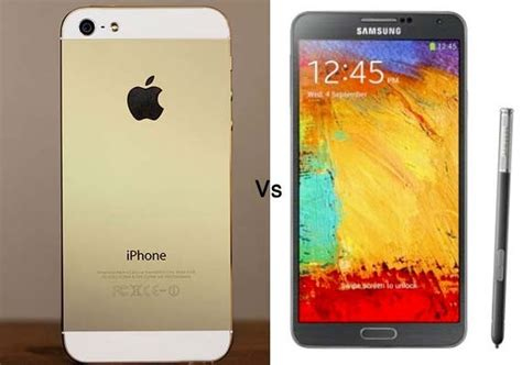 iphone   galaxy note  apples  smartphone takes  samsungs quad core phablet