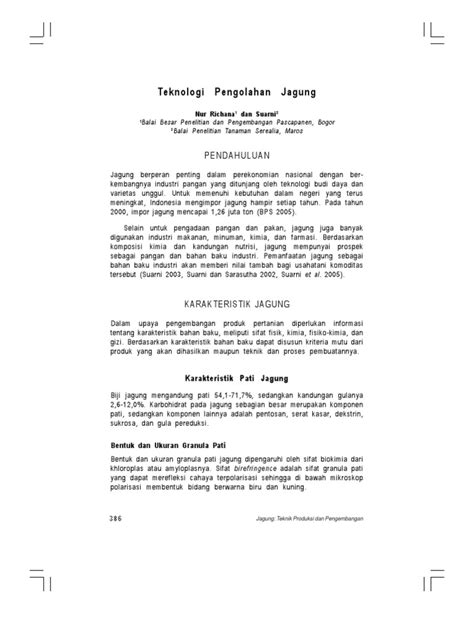 Jurnal Pengolahan Jagung Febri Irawan 05091002006 Teknik