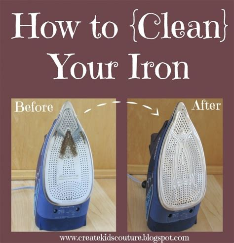 how to clean an iron tutorial clean the gunk off your iron sewing