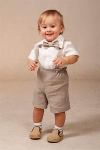 baby boy linen suit ring bearer outfit set of 4 first With baby boy dress clothes wedding