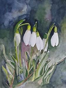 Aquarell Malen Blumen : landschaft nach bob ross schneegl ckchen aquarell und malen ~ Articles-book.com Haus und Dekorationen