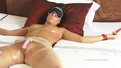 Condom Drilling Of Blindfolded Male blindfold surprise