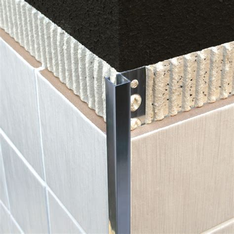 Outside Corner Tile Edging by Dural Chrome Plated Brass Square Edge Tile Trim Dpm 2 5m