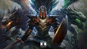 Images DOTA 2 Dragon Knight Dota 2 Shield Swords Armour