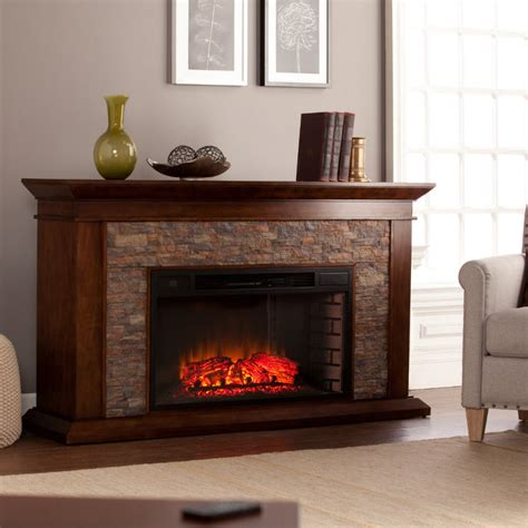 canyon heights simulated stone electric fireplace fe