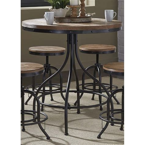 Pub Furniture by Liberty Furniture Vintage Metal Pub Table In Weathered