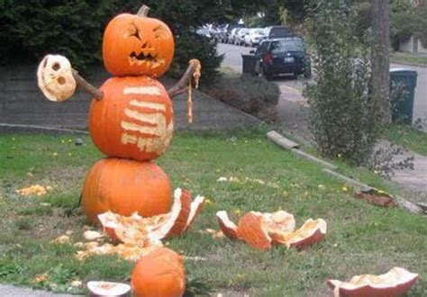 Puking Pumpkin Carving Stencils by Funny Scary Weird And Just Plain Wrong Pumpkin Carvings