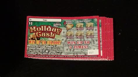 tickets cash holiday lottery fl scratch