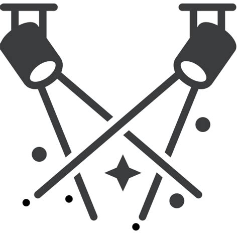 stage clipart black and white icon
