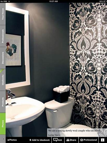 Accent Bathroom Powder Walls Damask Living Paper
