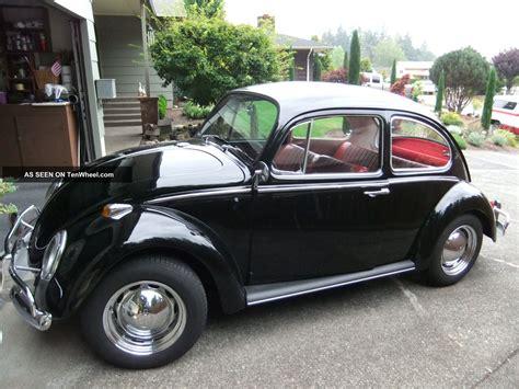 black volkswagen bug 1966 vw beetle 1300 volkswagon bug 2 door black