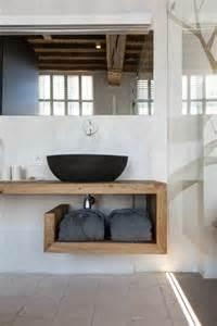 bad design holz waschtisch aus holz für mehr gemütlichkeit im bad