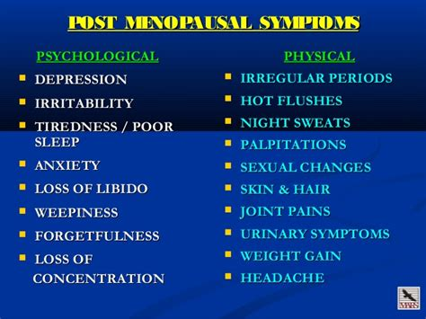post menopausal syndrome treatment