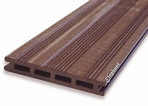 Lame De Terrasse Composite Longueur 4m : lame terrasse composite marron ~ Melissatoandfro.com Idées de Décoration