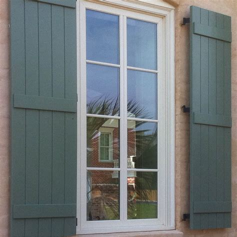 exterior board and batten shutters also window shutters