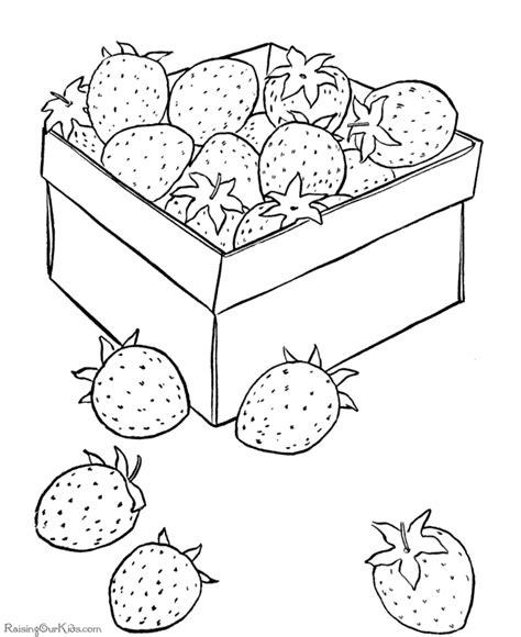 Halve Aardbei Kleurplaat by Doosje Vol Aardbeien Fruit Kleurplaten Aardbeien En