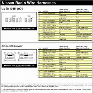 6607e Nissan Radio Wiring Harness Diagram