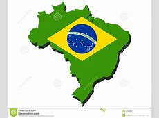 Map of Brazil stock vector Image of country, illustration
