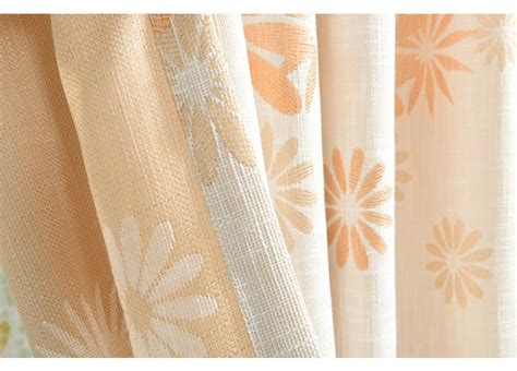 cotton jacquard window curtain orange color modern