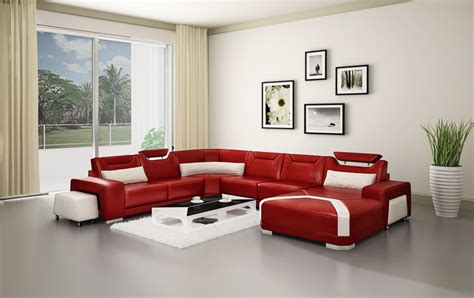 Pink Leather Sofa Set by Modern Pink Leather Sofa Set Sectional Genuine Leather