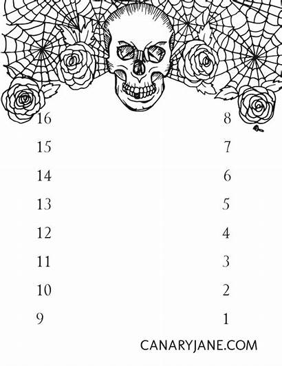 Halloween Countdown Printable Coloring Crow Spooky Because